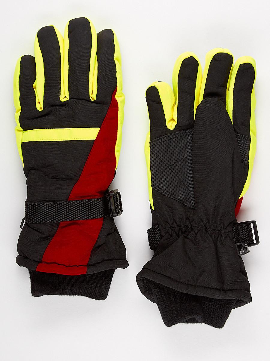 Перчатки горнолыжная подростковая для мальчика бордового цвета 904Bo