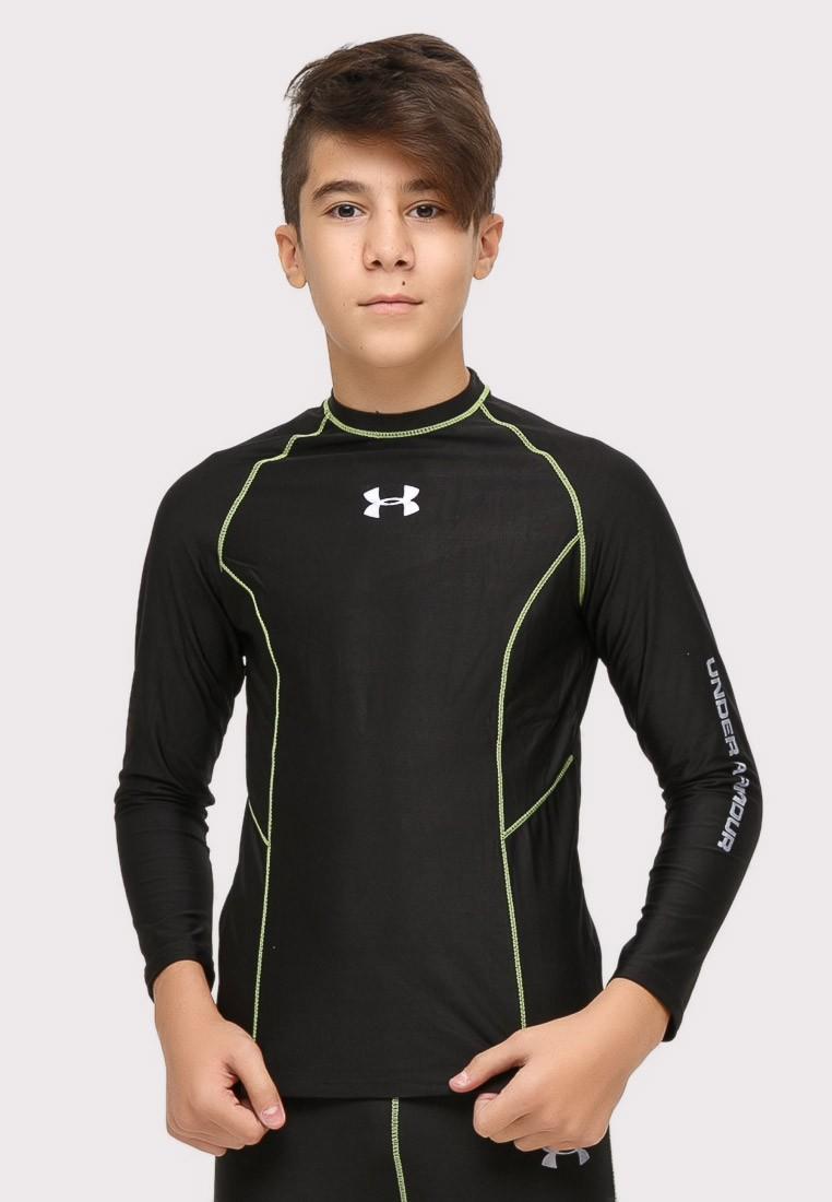 Купить оптом Термобелье подростковое для мальчика черного цвета 9043Ch в Уфе