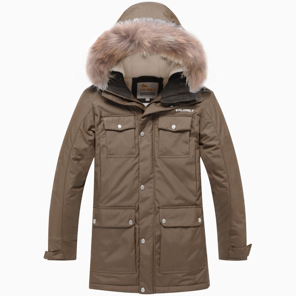 Купить оптом Парка зимняя для мальчика Valianly цвета хаки 9045Kh