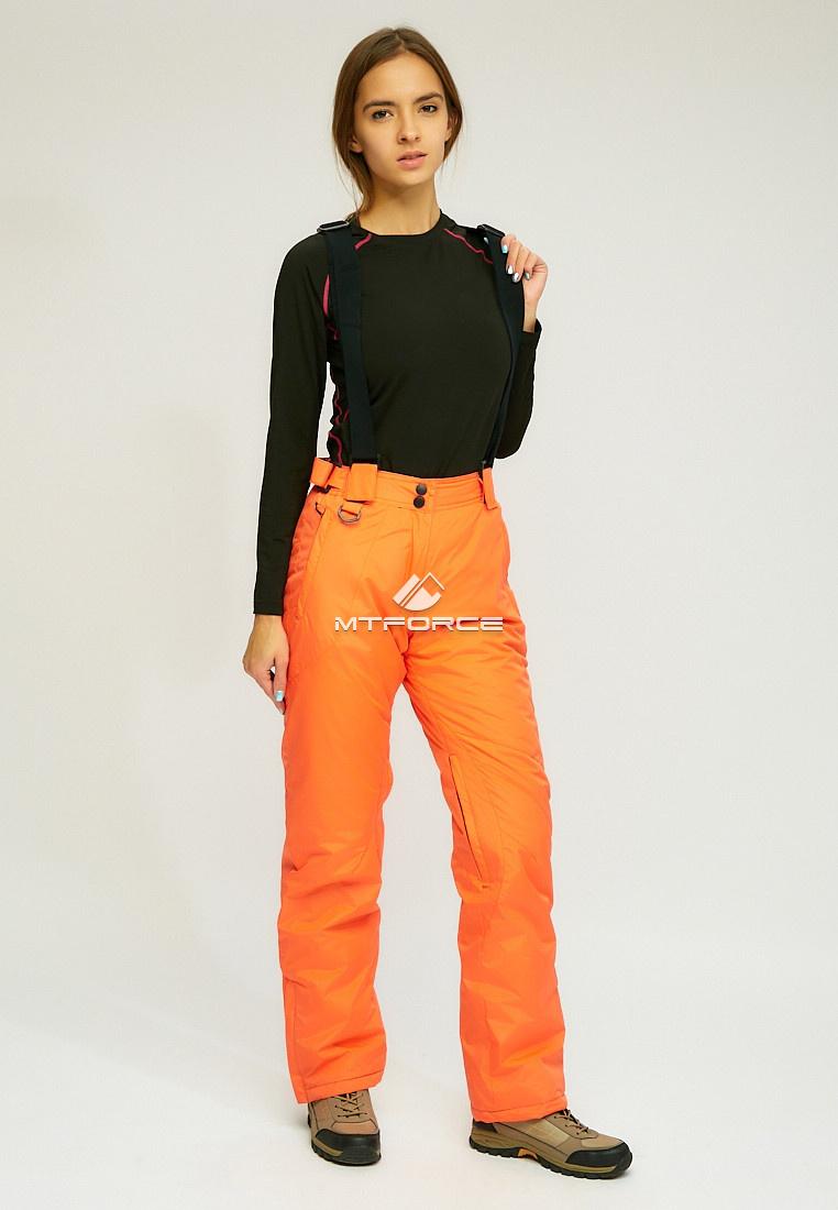 Купить оптом Женские зимние горнолыжные брюки оранжевого цвета 905O в Перми