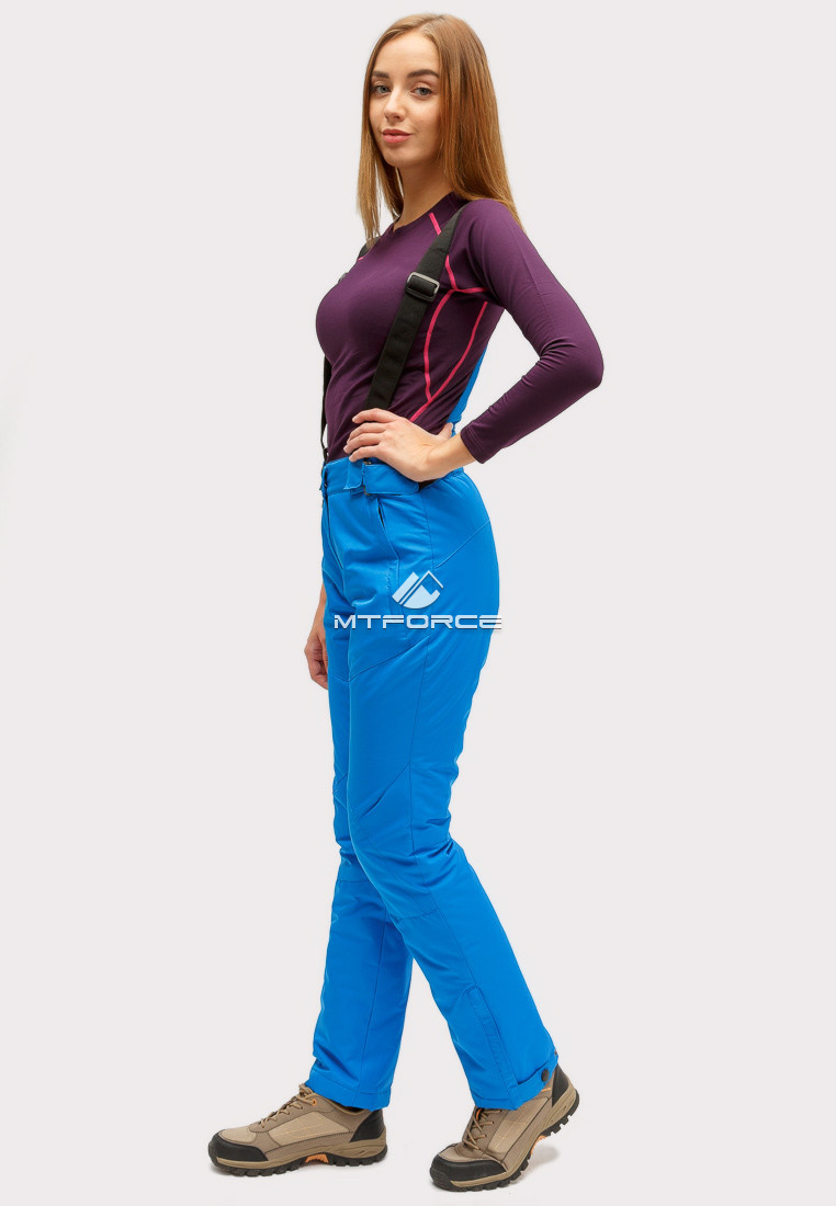 Купить оптом Брюки горнолыжные женские синего цвета 905S в Новосибирске