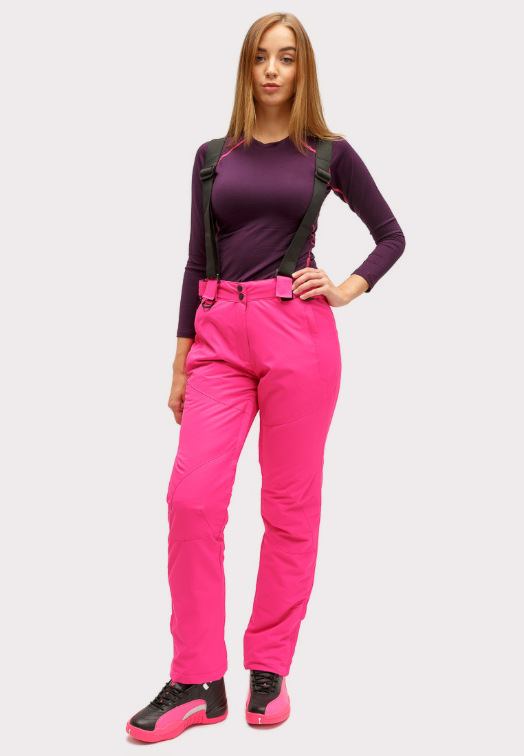 Купить оптом Брюки горнолыжные женские розового цвета 905R в Нижнем Новгороде