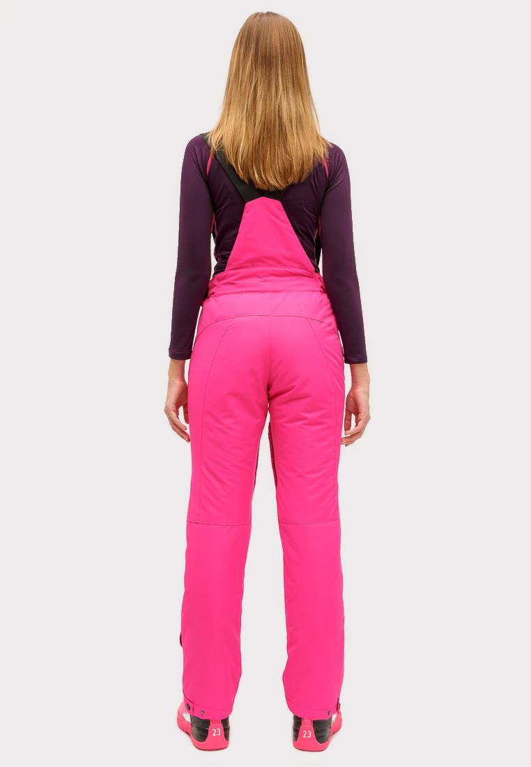 Купить оптом Брюки горнолыжные женские большого размера розового цвета 1878R в  Красноярске