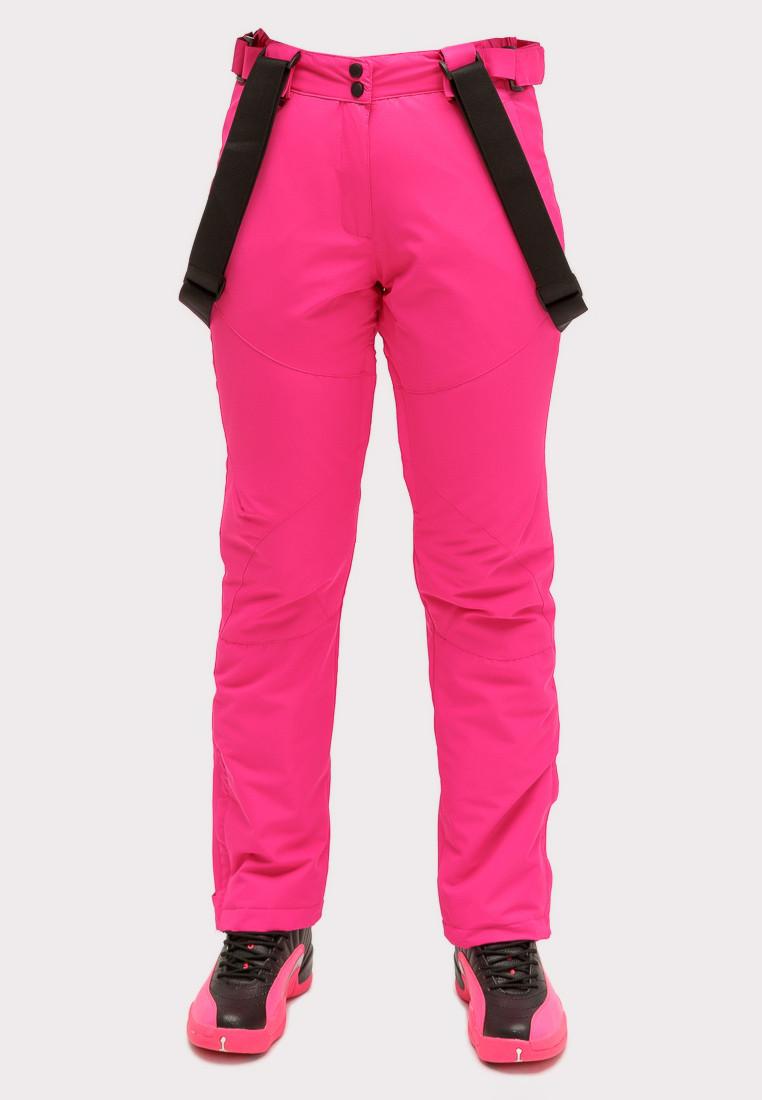 Купить оптом Брюки горнолыжные женские розового цвета 905R в Самаре