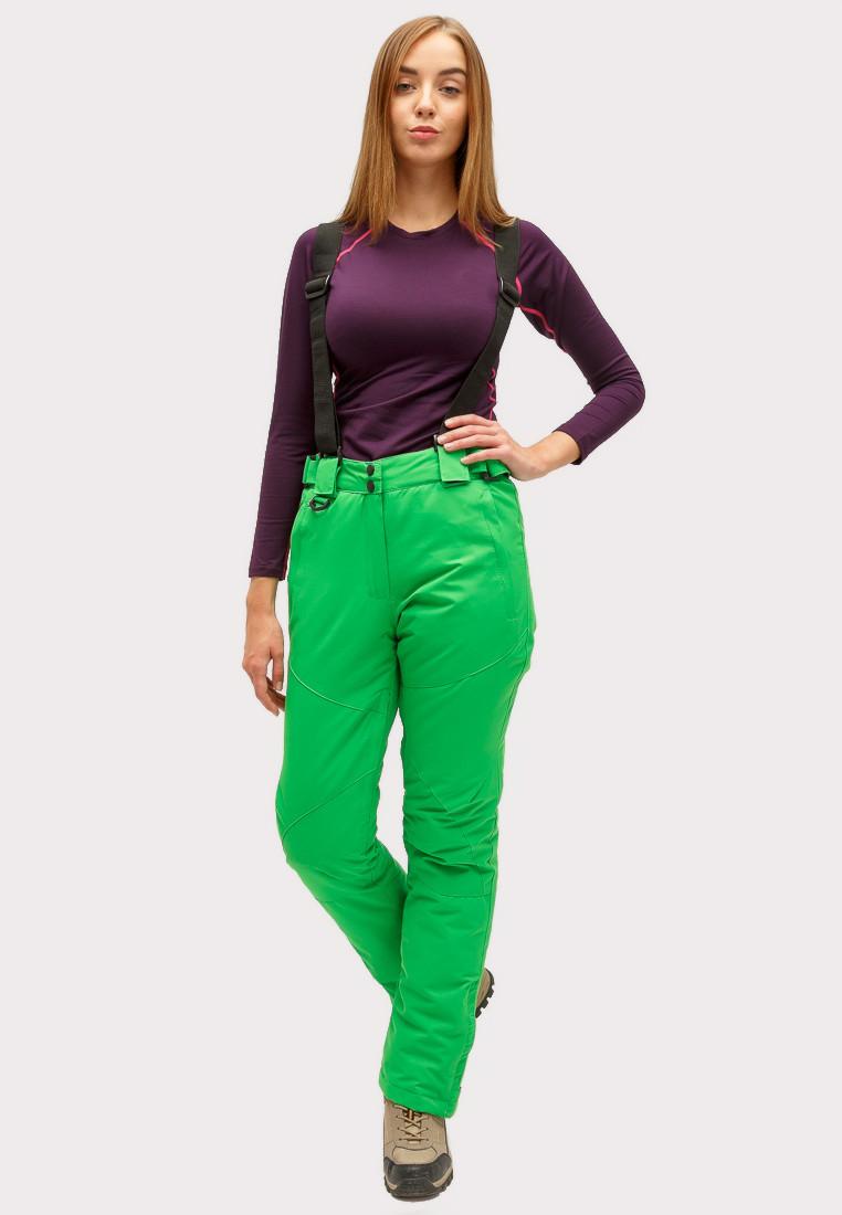 Купить оптом Брюки горнолыжные женские зеленого цвета 905Z