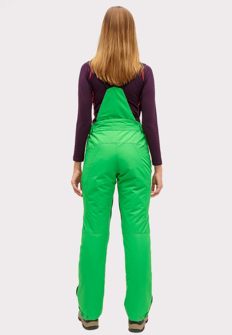 Купить оптом Брюки горнолыжные женские зеленого цвета 905Z в Санкт-Петербурге