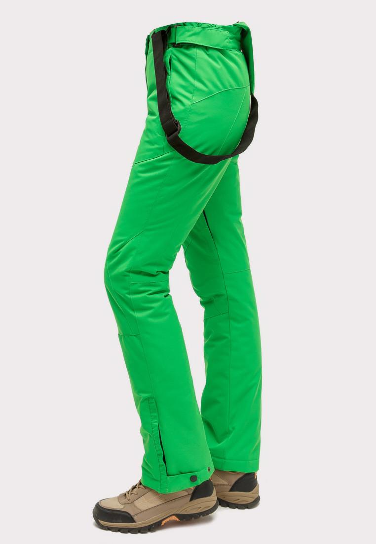 Купить оптом Брюки горнолыжные женские зеленого цвета 905Z в Новосибирске