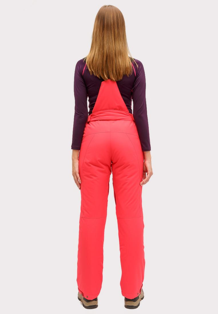 Купить оптом Брюки горнолыжные женские малинового цвета 905M в Санкт-Петербурге