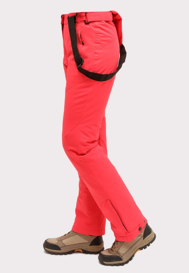 Купить оптом Брюки горнолыжные женские большого размера малинового цвета 1878М в Сочи