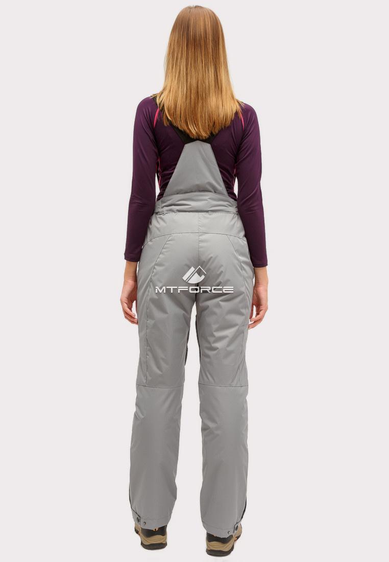 Купить оптом Брюки горнолыжные женские серого цвета 905Sr в Челябинске