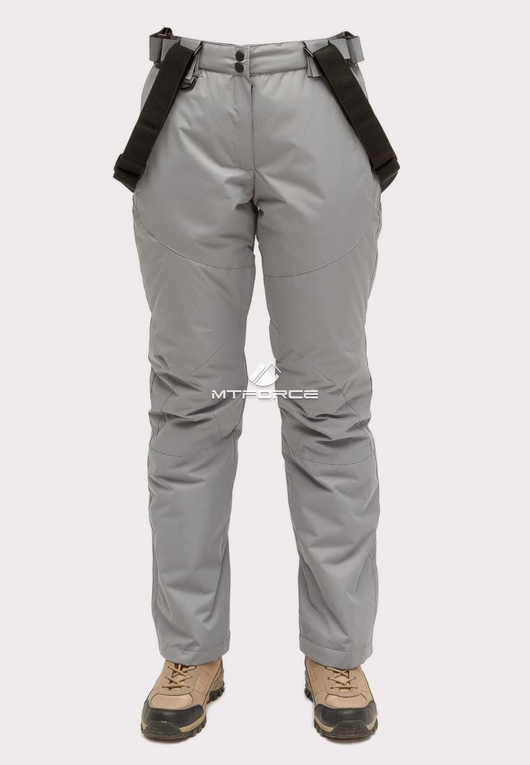 Купить оптом Брюки горнолыжные женские серого цвета 905Sr в Сочи