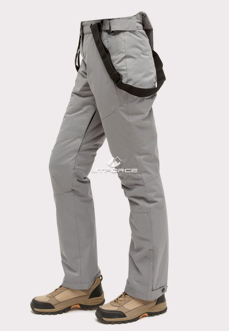 Купить оптом Брюки горнолыжные женские серого цвета 905Sr в Ростове-на-Дону