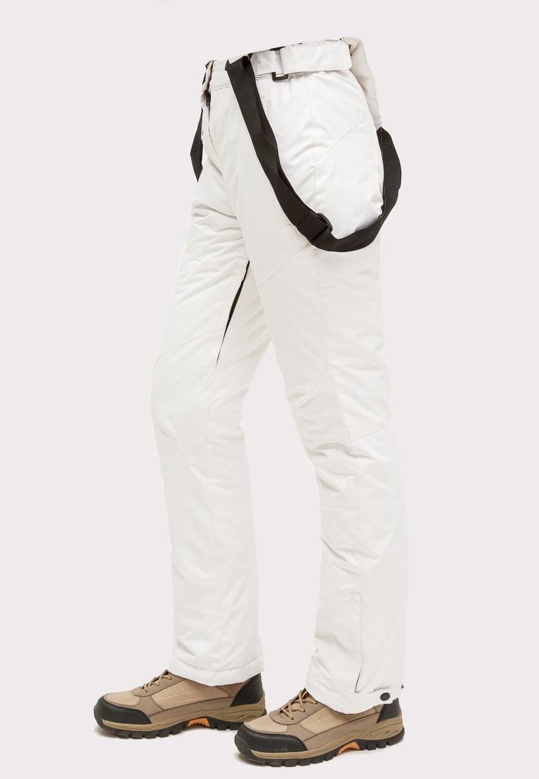 Купить оптом Брюки горнолыжные женские белого цвета 905Bl в Новосибирске