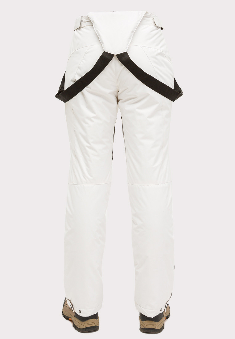 Купить оптом Брюки горнолыжные женские белого цвета 905Bl в Уфе