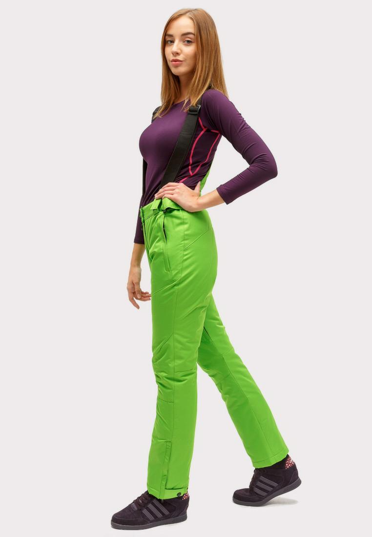 Купить оптом Брюки горнолыжные женские салатового цвета 905Sl в Сочи