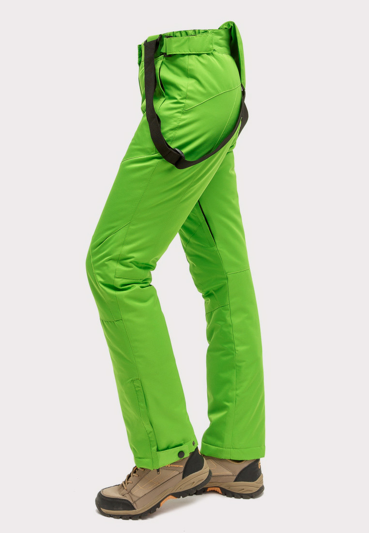 Купить оптом Брюки горнолыжные женские салатового цвета 905Sl в Новосибирске