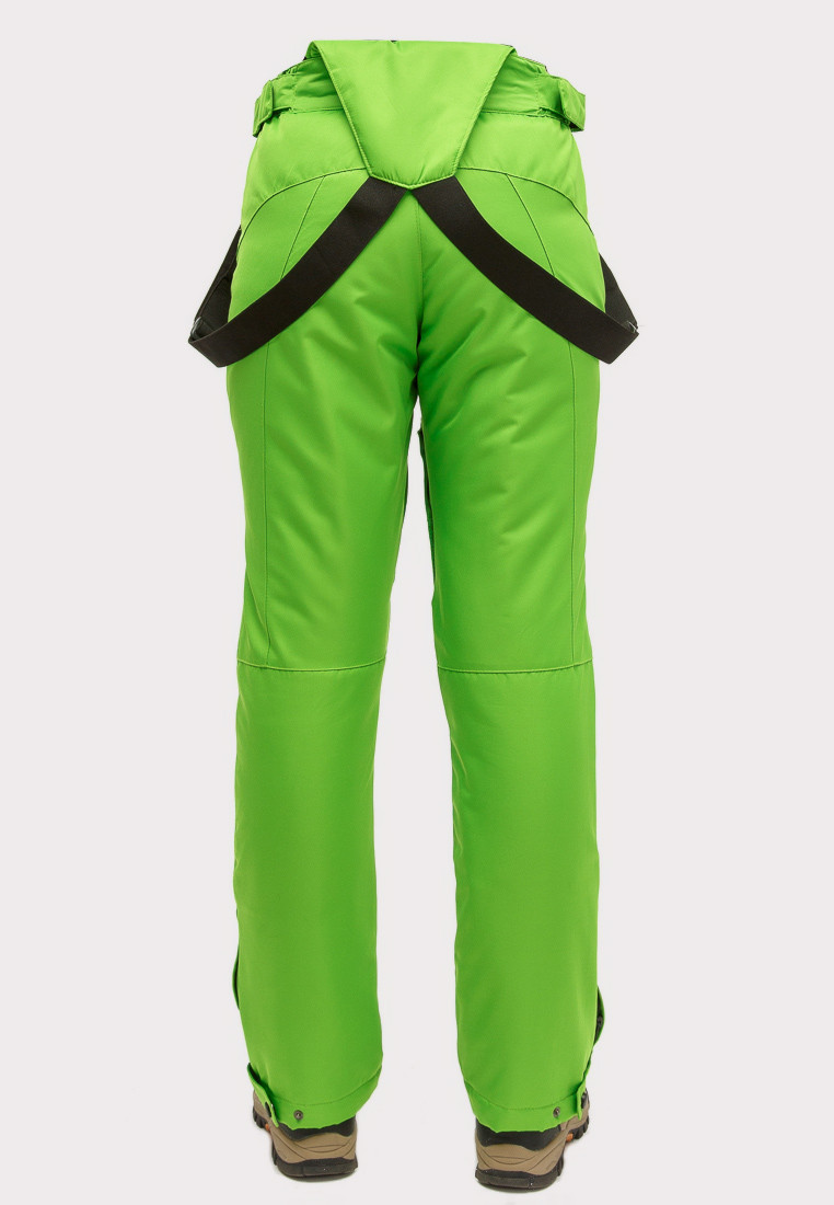 Купить оптом Брюки горнолыжные женские салатового цвета 905Sl в Омске