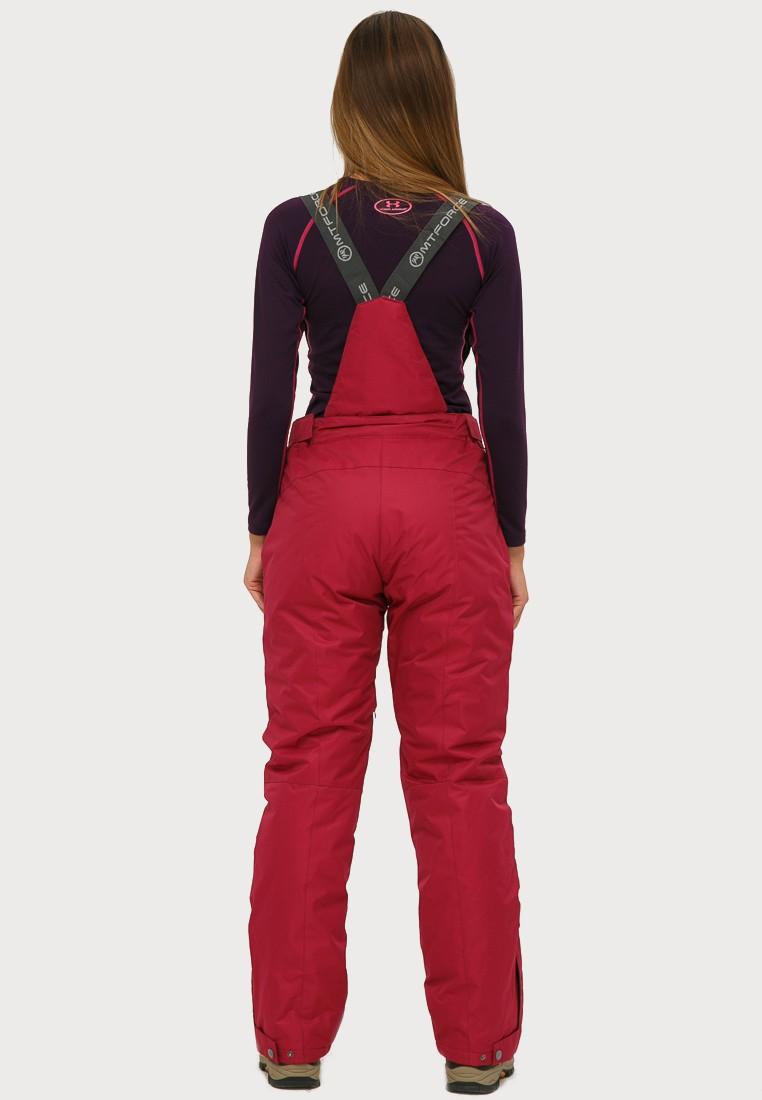 Купить оптом Брюки горнолыжные женские большого размера бордового цвета 1878Bo в Сочи