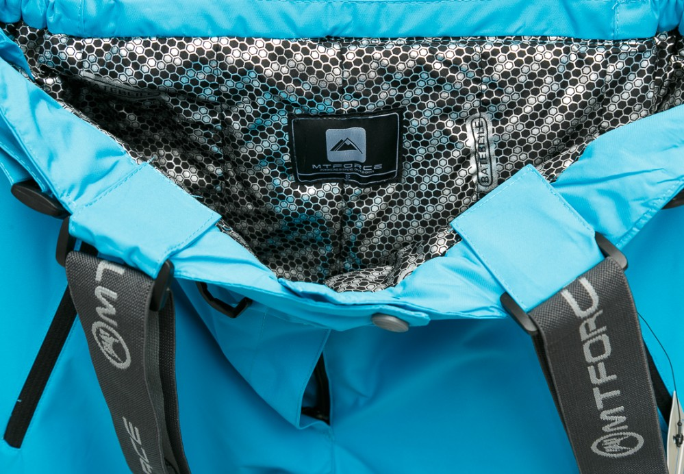 Купить оптом Брюки горнолыжные женские большого размера голубого цвета 1878Gl в Челябинске