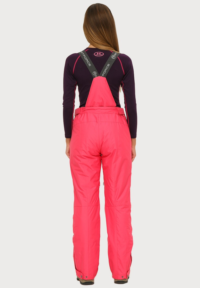 Купить оптом Брюки горнолыжные женские розового цвета 906R в Казани