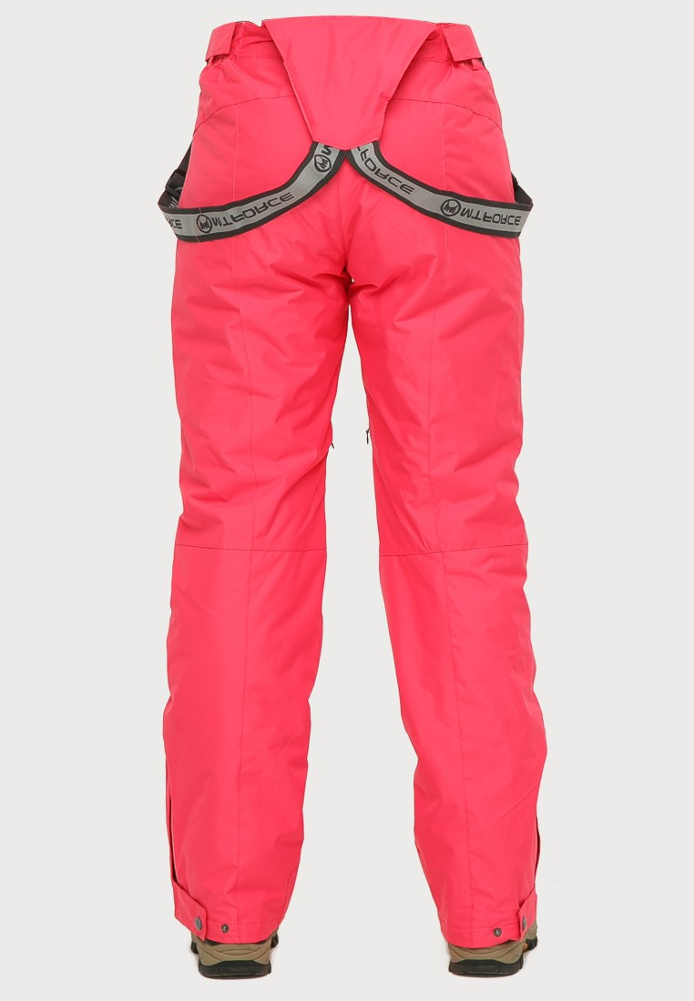 Купить оптом Брюки горнолыжные женские розового цвета 906R в Нижнем Новгороде