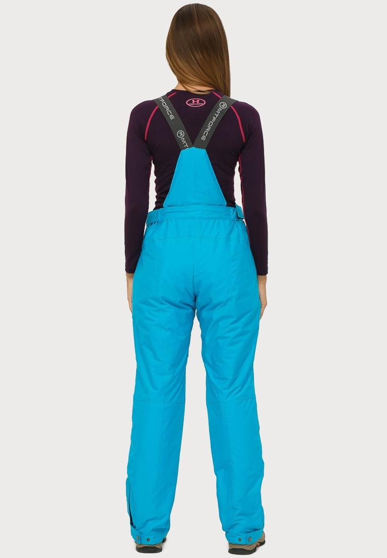 Купить оптом Брюки горнолыжные женские голубого цвета 906Gl в Самаре