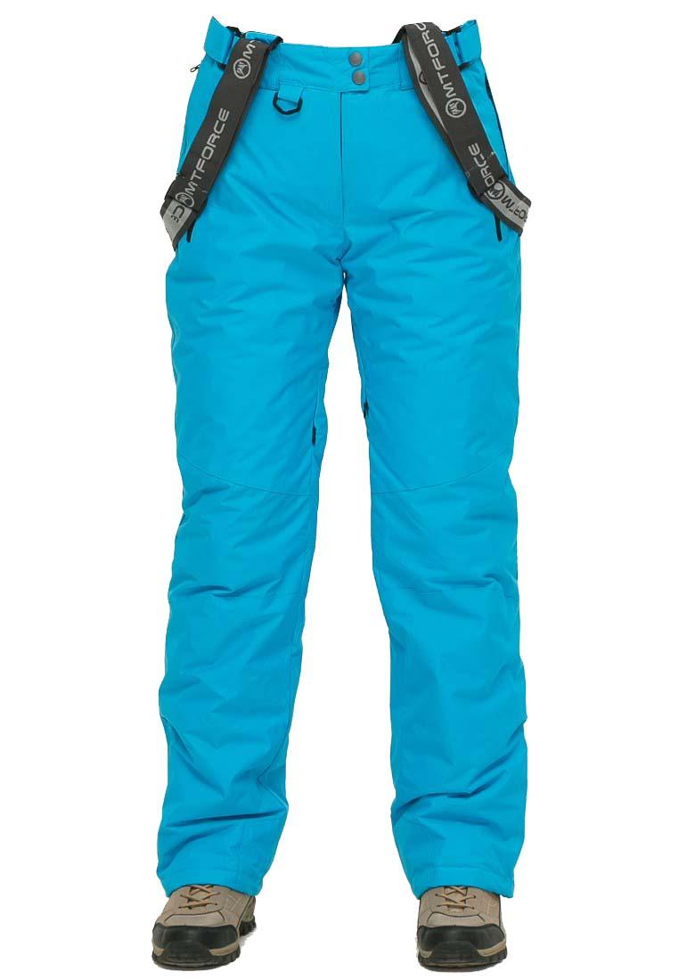 Купить оптом Брюки горнолыжные женские голубого цвета 906Gl