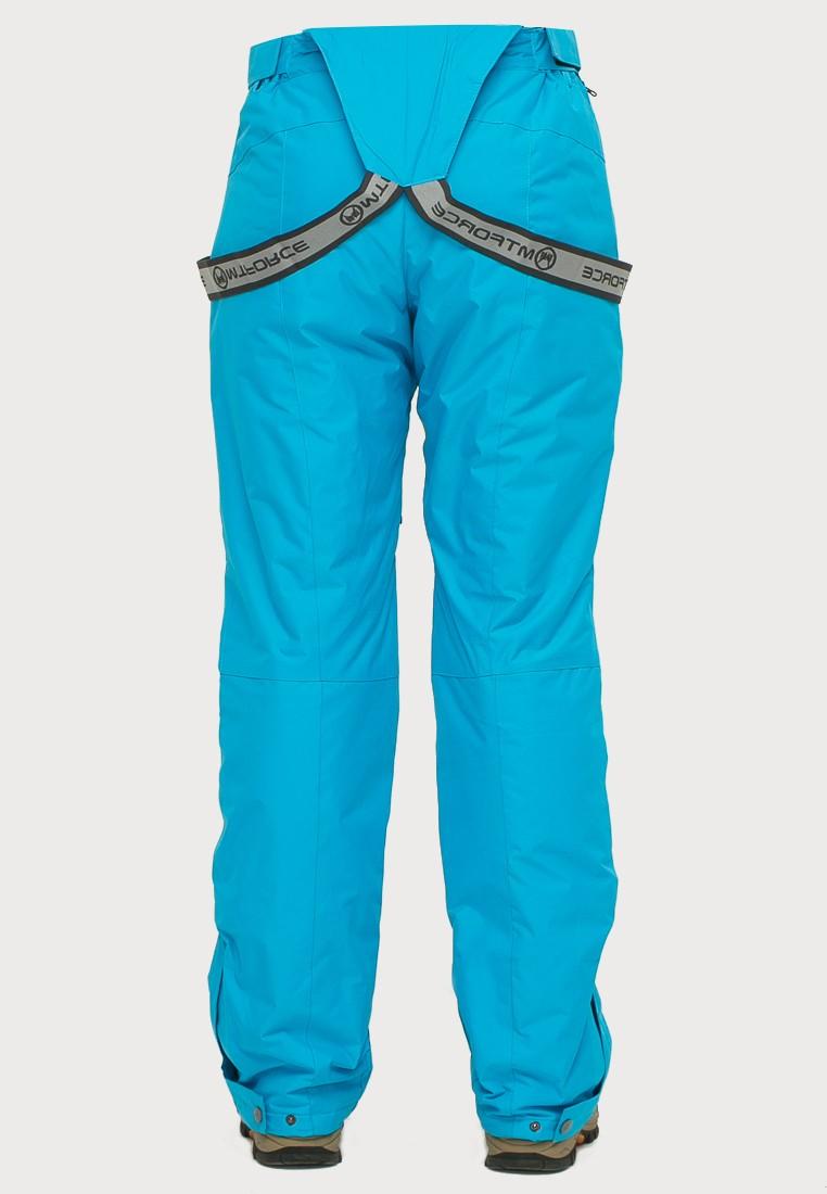 Купить оптом Брюки горнолыжные женские голубого цвета 906Gl в Санкт-Петербурге