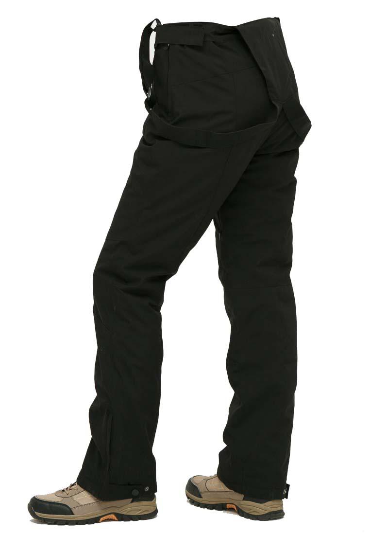 Купить оптом Брюки горнолыжные женские черного цвета 906Ch в Воронеже