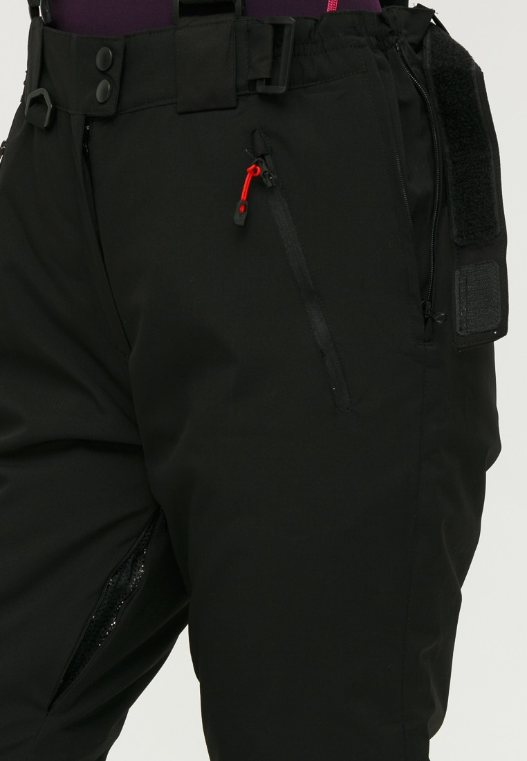 Купить оптом Брюки горнолыжные женские черного цвета 906Ch