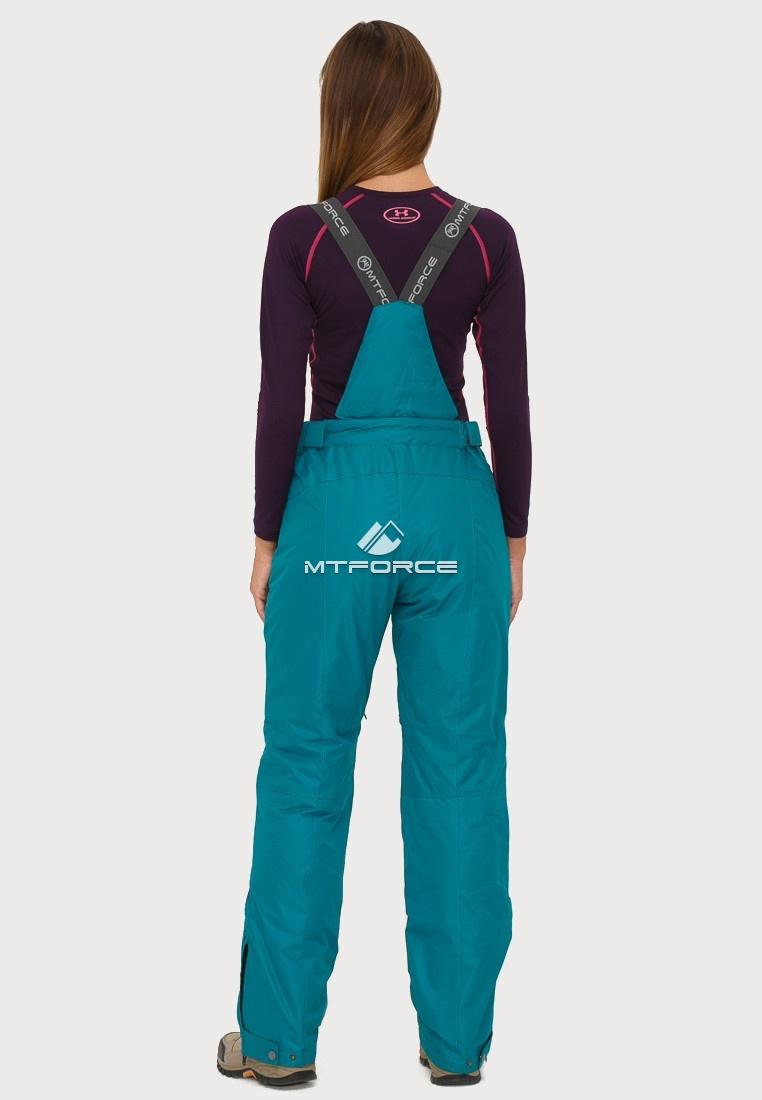 Купить оптом Брюки горнолыжные женские темно-зеленого цвета 906TZ в Челябинске
