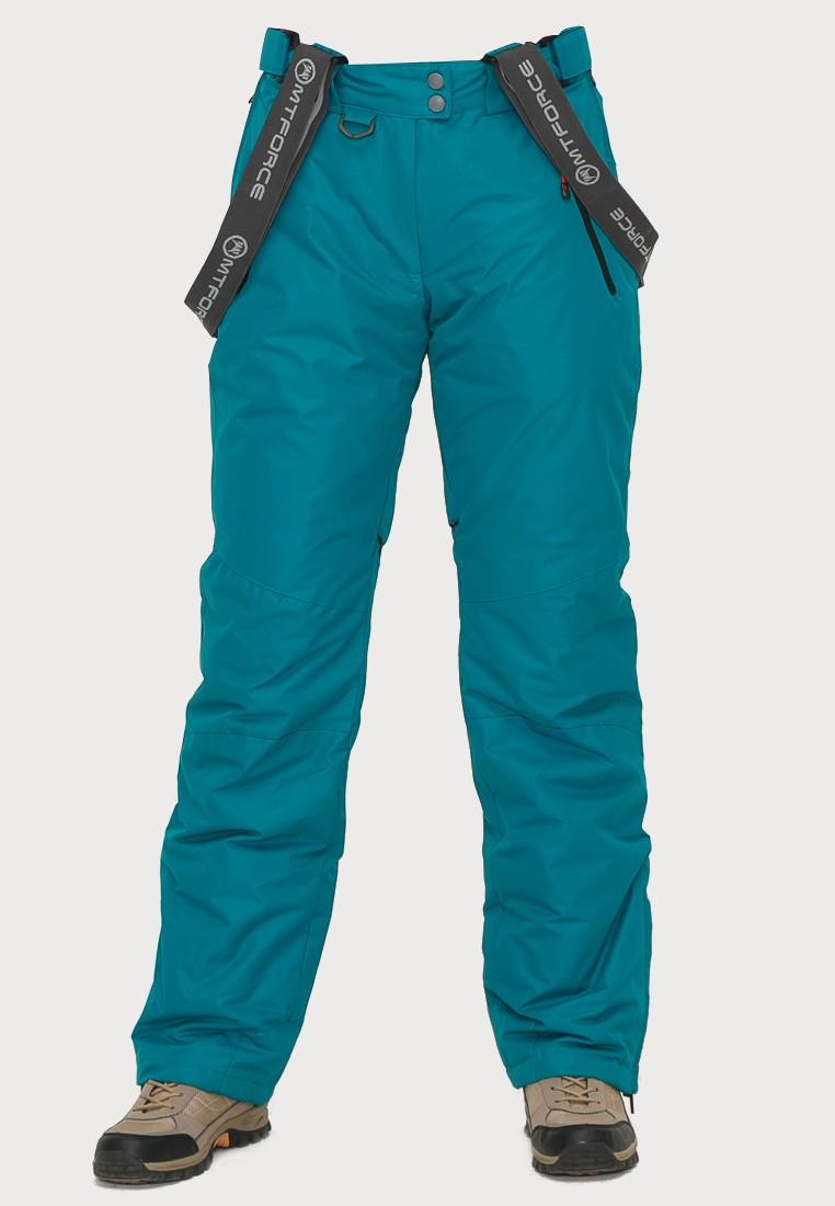 Купить оптом Брюки горнолыжные женские темно-зеленого цвета 906TZ в Перми