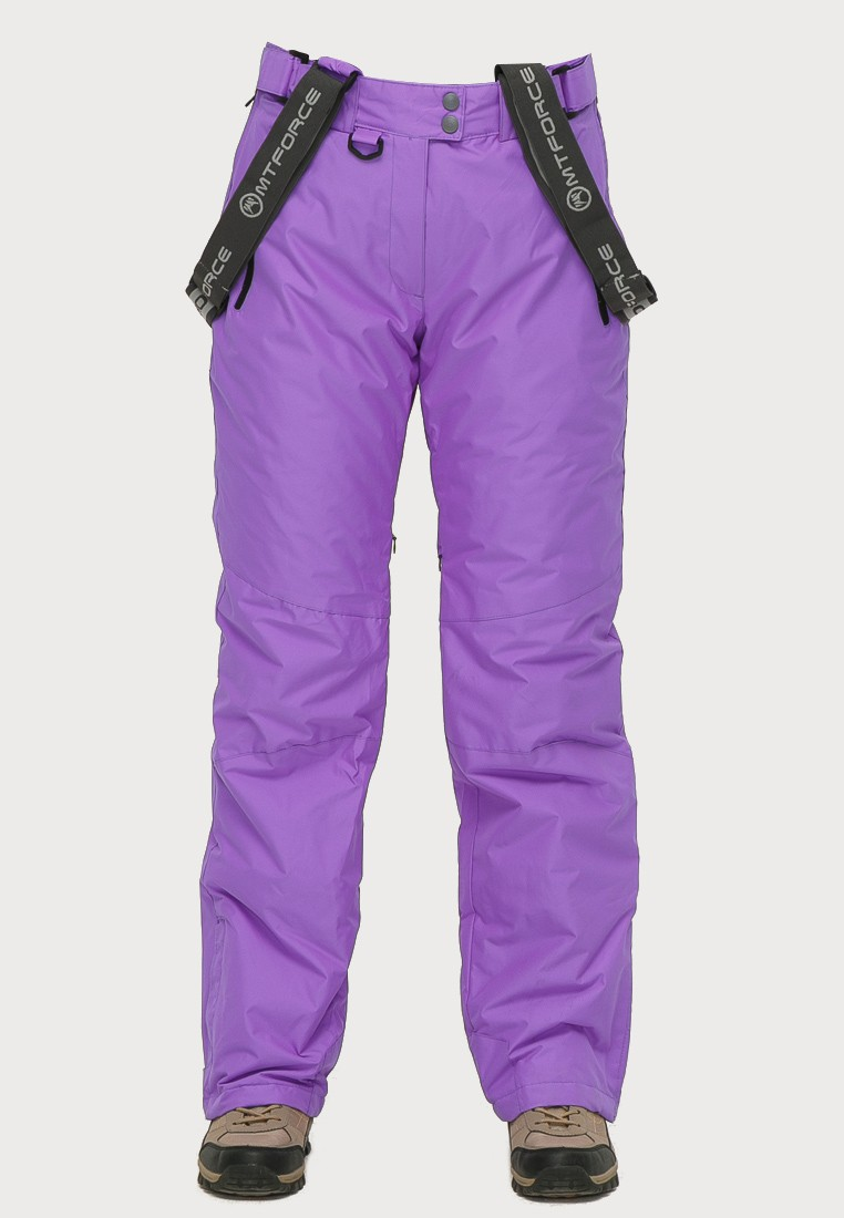 Купить оптом Брюки горнолыжные женские фиолетового цвета 906F в Казани
