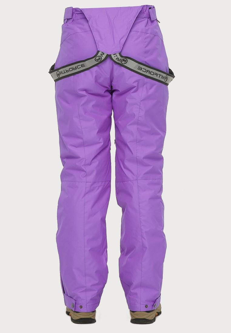Купить оптом Брюки горнолыжные женские фиолетового цвета 906F в Волгоградке