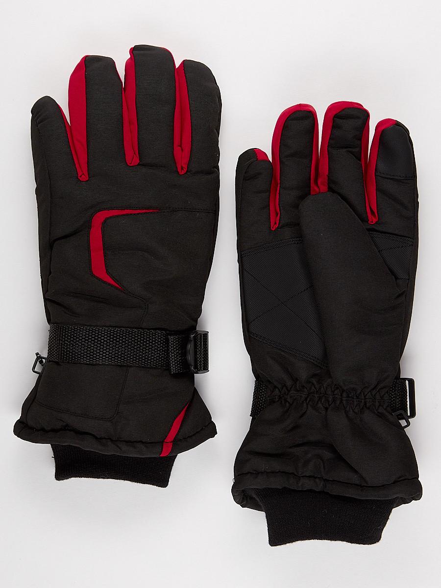 Перчатки мужские горнолыжные красного цвета 907Kr