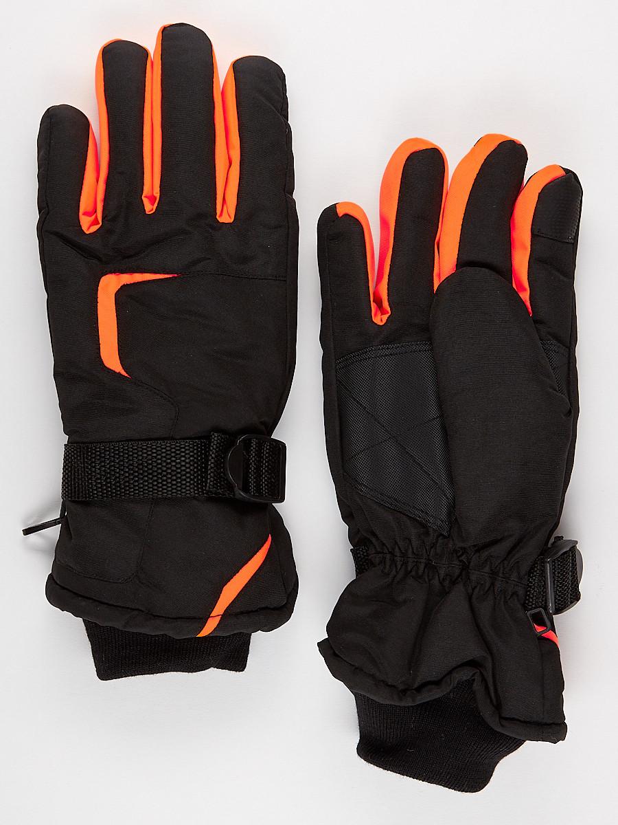 Перчатки мужские горнолыжные оранжевого цвета 907O