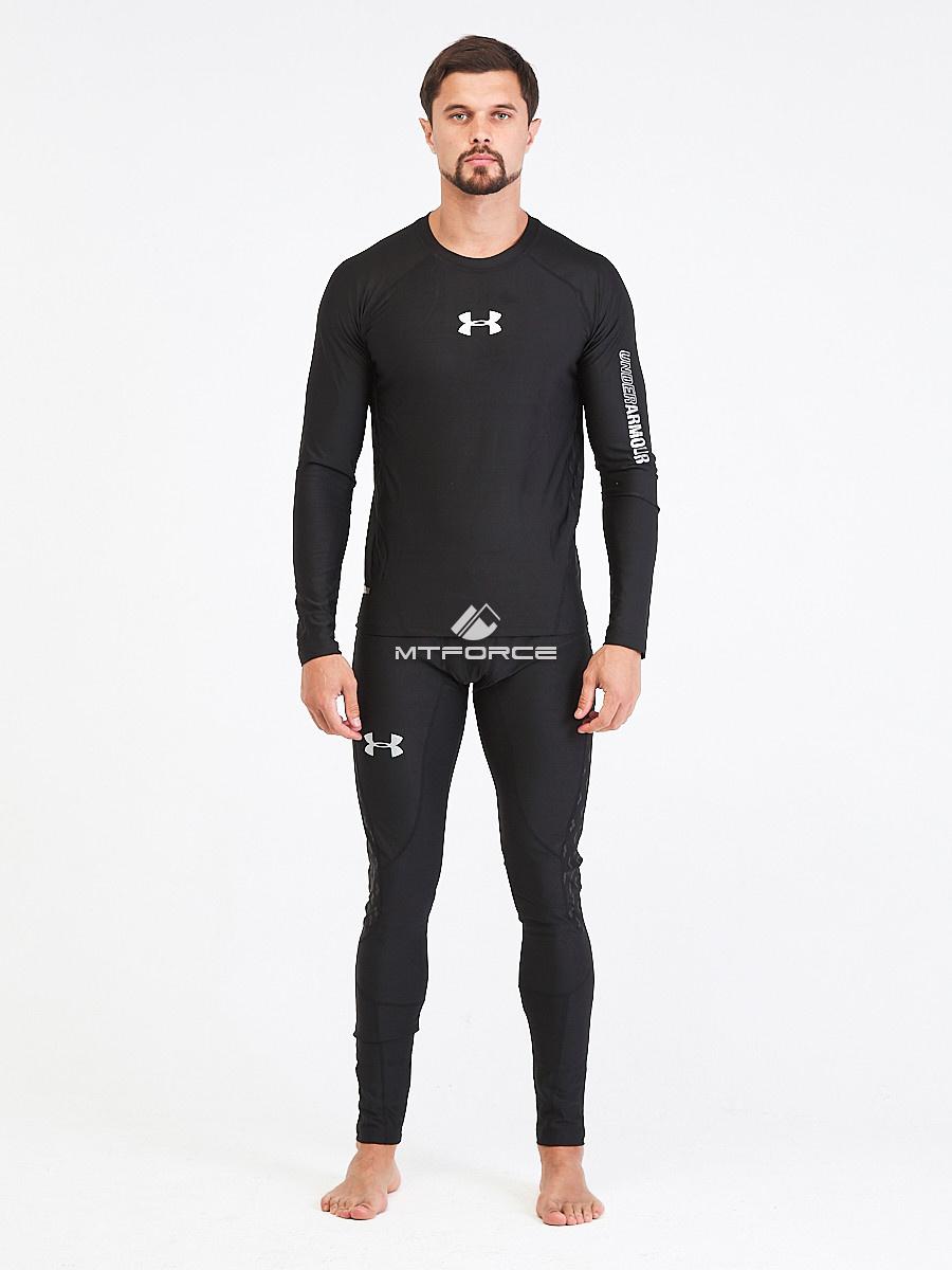 Купить оптом Термобелье мужское черного цвета 91159Ch в Казани