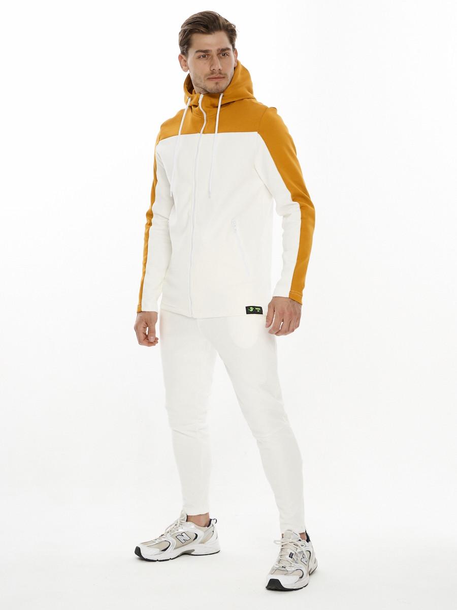 Купить оптом Спортивный костюм трикотажный белого цвета 9122Bl