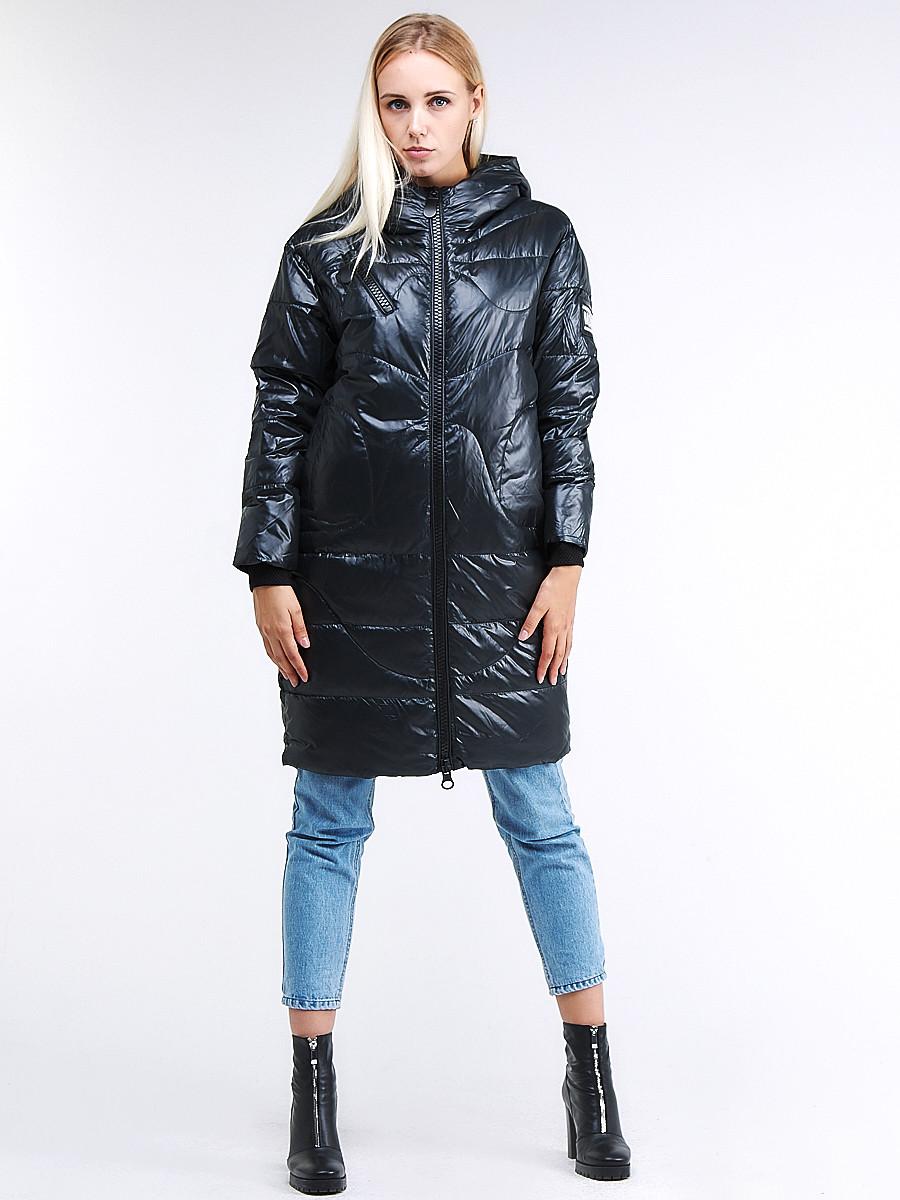 Купить оптом Куртка зимняя женская молодежная темно-зеленого цвета 9131_03TZ в Казани