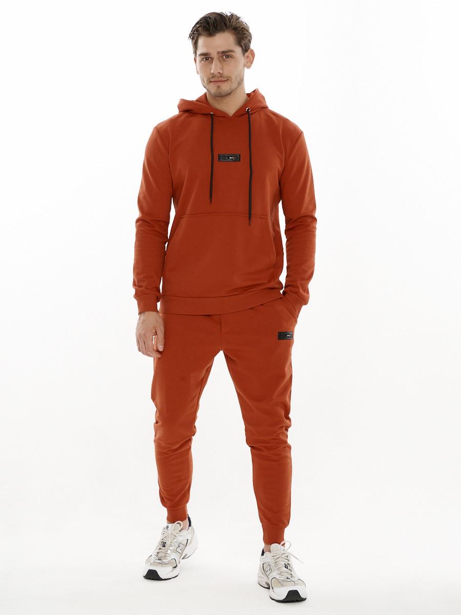 Купить оптом Спортивный костюм трикотажный оранжевого цвета 9159O