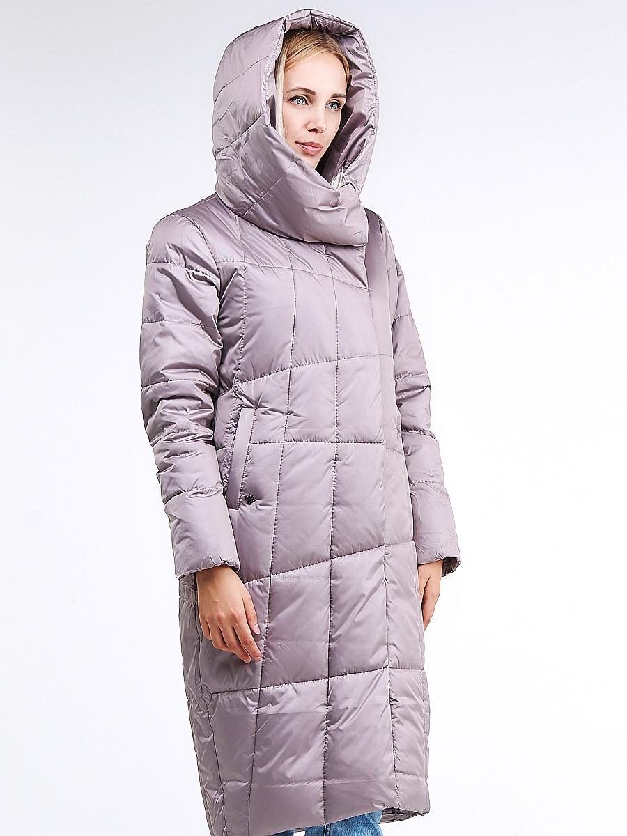 Купить оптом Куртка зимняя женская молодежная стеганная бежевого цвета 9163_12B