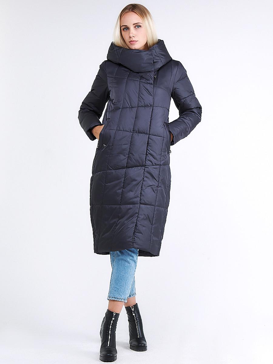Купить оптом Куртка зимняя женская молодежная стеганная темно-серого цвета 9163_29TC в Казани