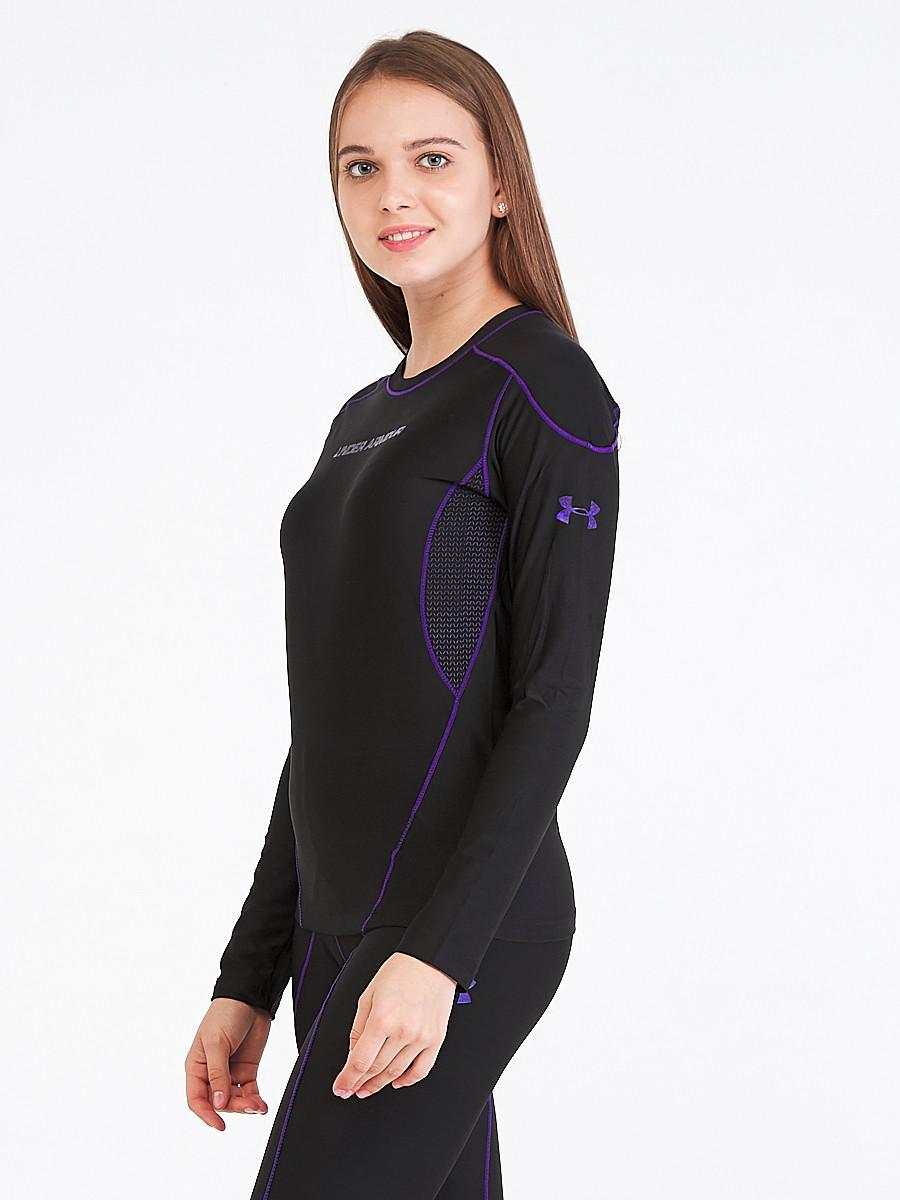 Купить оптом Термобелье женское фиолетового цвета 91167F