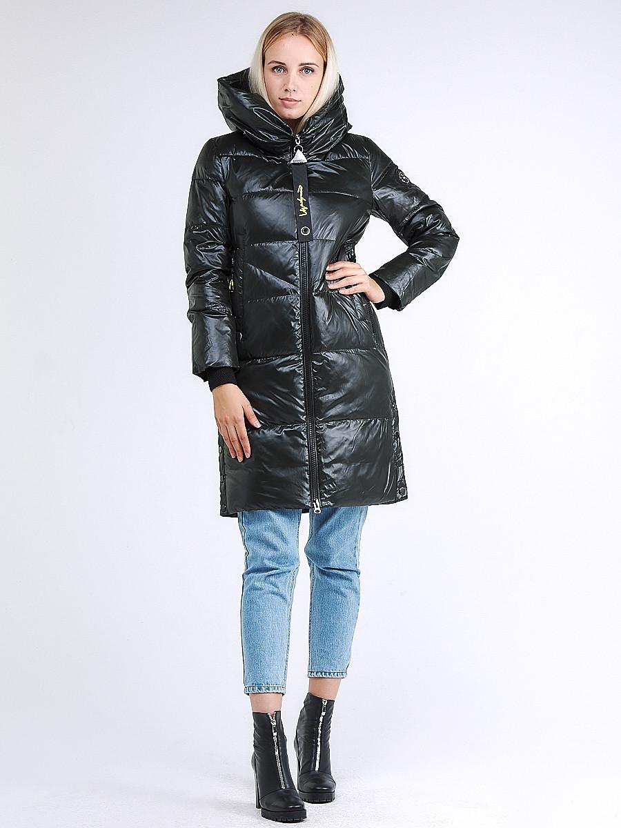 Купить оптом Куртка зимняя женская молодежная черного цвета 9179_03TC в Казани