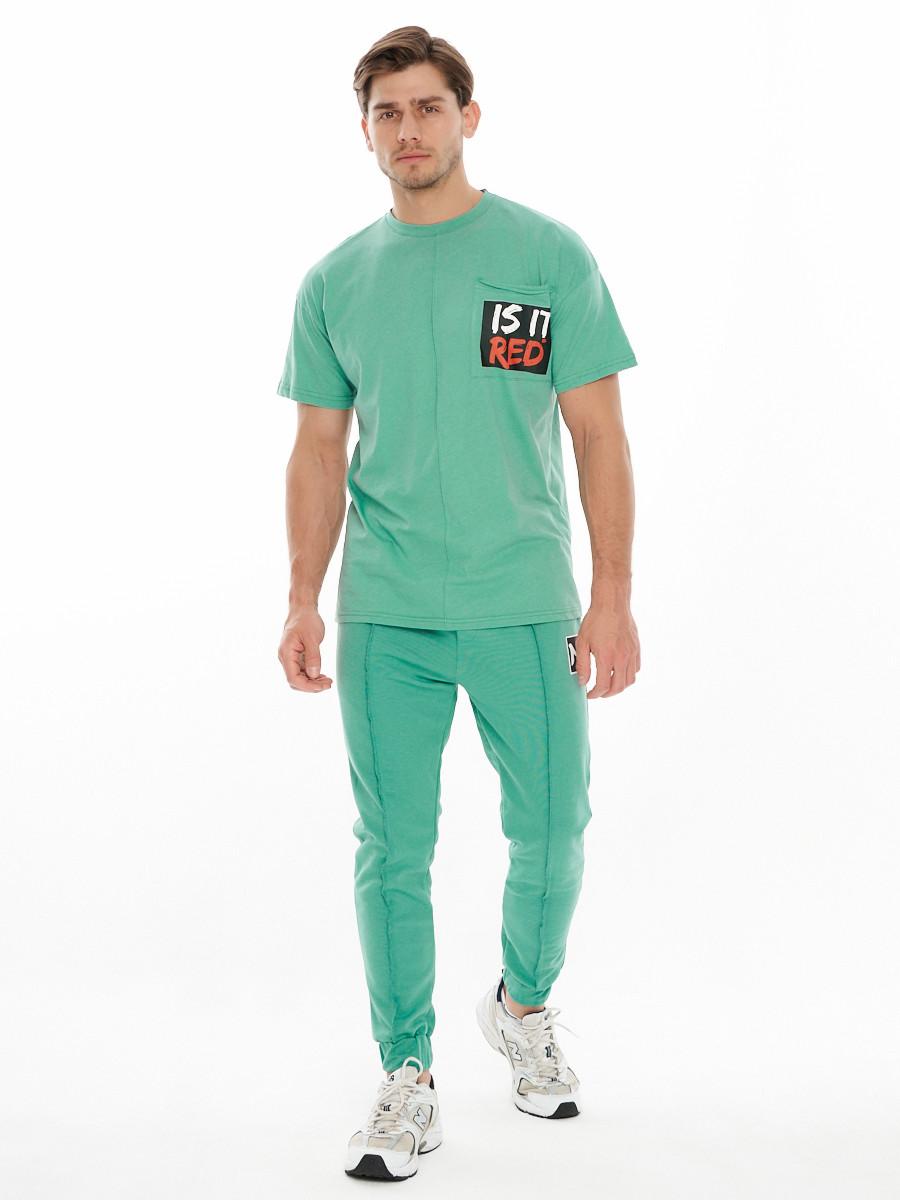 Купить оптом Костюм джоггеры с футболкой салатового цвета 9181Sl
