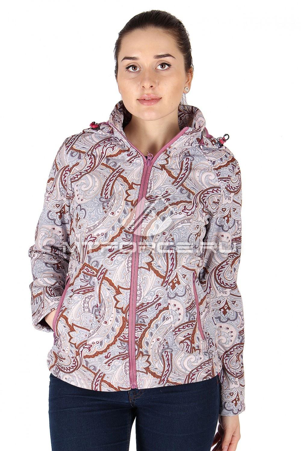 Купить                                  оптом Куртка ветровка батал женская бежевого цвета 922B