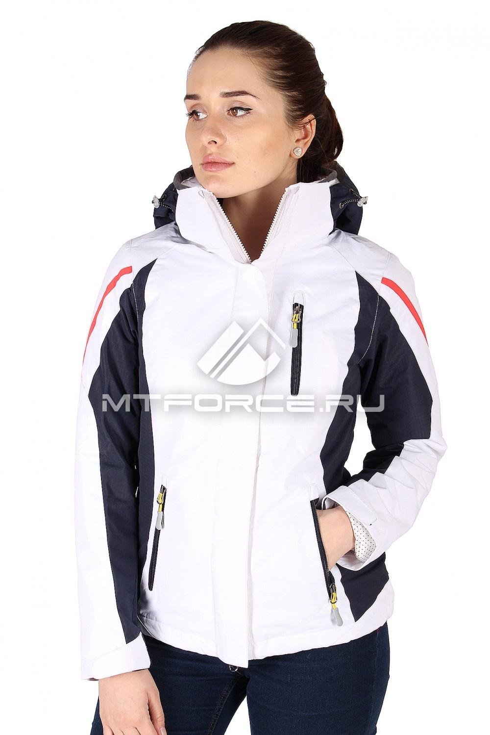 Купить                                  оптом Куртка спортивная женская весна бело-темно-синего цвета 930BTS