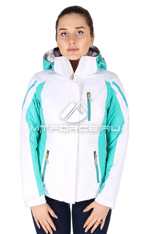 Купить                                  оптом Куртка спортивная женская весна бело-зеленого цвета 930BZ