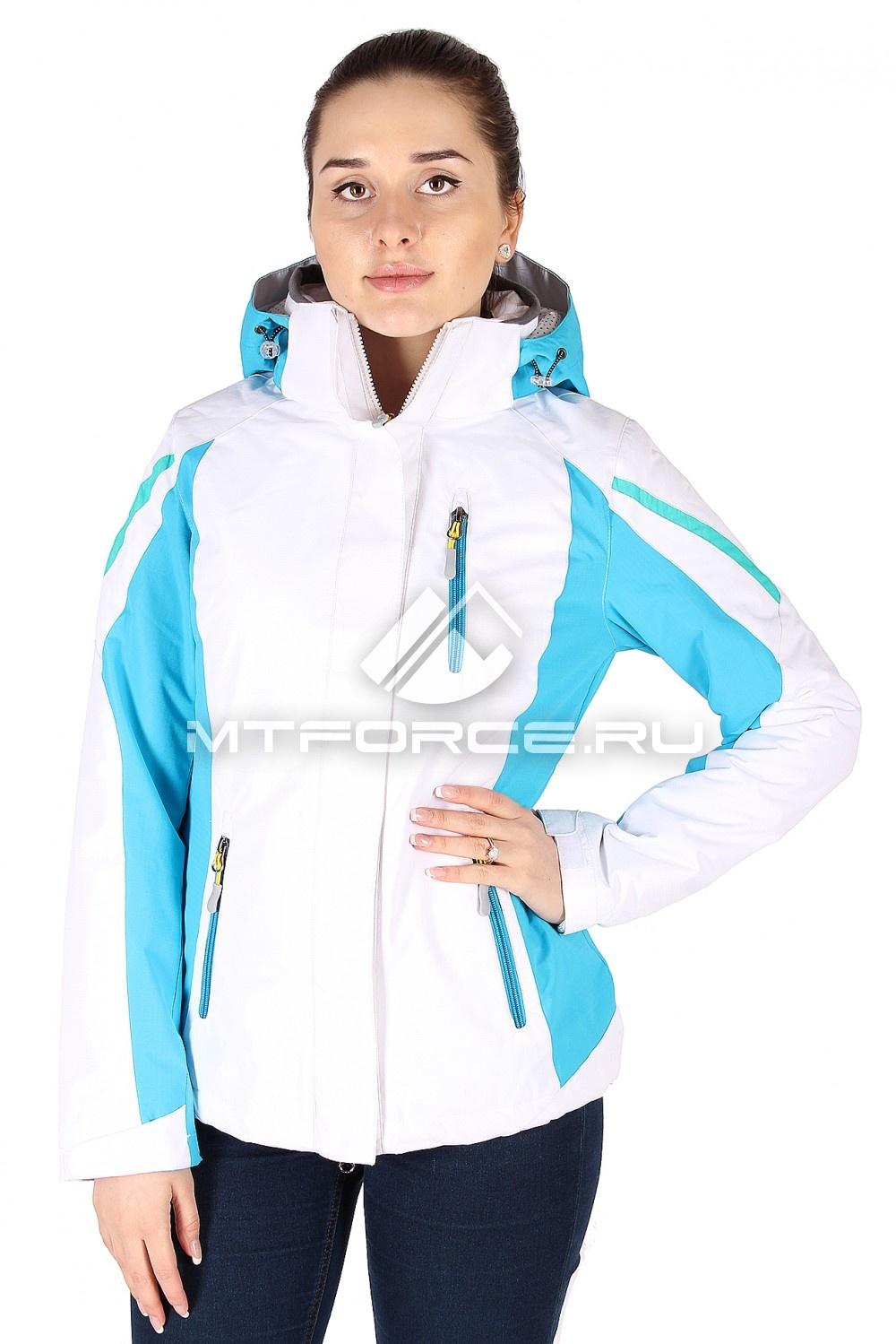 Купить                                  оптом Куртка спортивная женская весна бело-голубого цвета 930BG