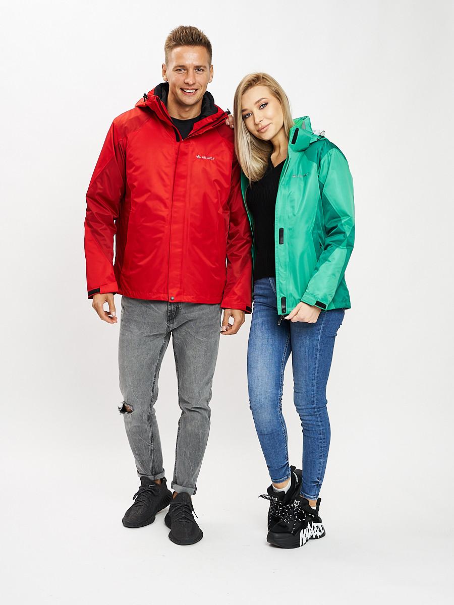 Купить оптом Куртка демисезонная 3 в 1красного цвета 93213Kr в Екатеринбурге